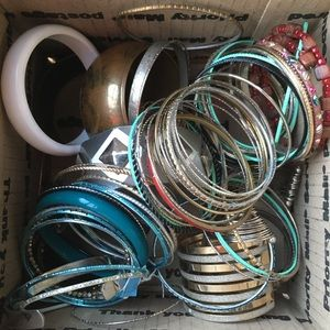 50+ Bracelets & Bangles Lot Wearing and Crafts